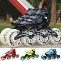 JEERKOOL velocidad patines en línea de fibra de carbono profesional de 4 ruedas de carreras de patinaje ZICO patines para los niños de los hombres adultos Patins SH49