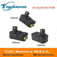 Alta calidad 18 V 2500/4000 mAh/5000 mAh Li-Ion para Ryobi caliente P108 RB18L40 batería recargable herramienta para uno +