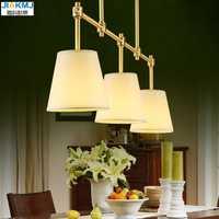 Simple restaurante candelabros de estilo europeo cobre lámpara lámparas salón comedor 3 cabezas creativas lampadari