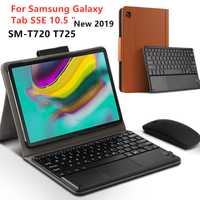 Étui pour samsung Galaxy Tab S5E SM-T720 T725 10.5 Bluetooth clavier housse de protection PU cuir pour Tab S5E 10.5