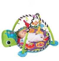 3 en 1 bébé tapis de jeu rond tortue Lion ramper couverture infantile tapis de jeu tapis de jeu enfants tapis d'activité Gym pliant Tapete Infantil