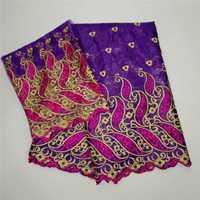 Tela bordada Africana bazin riche tela de alta calidad bazin riche getzner para costura de retazos KY091480