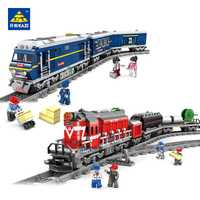 98219 nuevo de la ciudad en 98220 Modelo de la serie la carga de construcción conjunto tren bloques ladrillos tren juguetes educativos para los niños