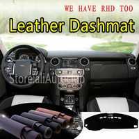 Pour Land Rover Discovery LR3 LR4 2004-2016 2009 cuir Dashmat couverture de tableau de bord tapis de bord voiture personnalisée style LHD + RHD