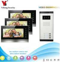 Yobang Video de seguridad timbre intercomunicador de 7