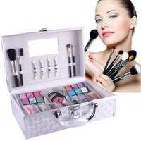 Maquillaje Profesional Kit de conjuntos de sombra de ojos colorete cosmético caso Pro paleta de maquillaje lápiz labial sombra de ojos de tornillo de esmalte de uñas