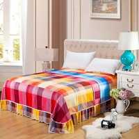 1 unidades estilo pastoral Colchas la manera cubierta patrón proteger hoja para 5 pies 6 pies cama