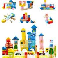 WYNLZQ 62 unids/lote juguete de madera bloques de seguridad juguetes de madera intelectual juego adultos Antistress juguete Juegos de la familia regalos de la novedad nuevo