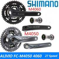 SHIMANO ALIVIO FC-M4000 FC-M4050 FC-T4060 FC-M4060 Crankset 3 * s 9 s S 27 s mtb bicicleta cadena rueda Tee