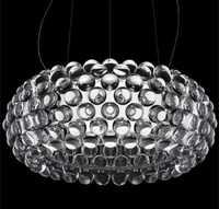 LED luz pendiente moderna 50 cm, 65 cm Foscarini Caboche de la bola lámpara colgante de oro FG839
