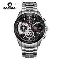 Marca de lujo los hombres del deporte del reloj de cuarzo ocasional encanto luminoso calendario luminoso manos impermeable 100 M CASIMA #8303