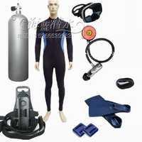 Equipo de Buceo gama completa de kit de buceo profesional, combinación/equipo de buceo/tienda de 12 L cilindro