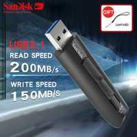SanDisk Extreme USB Flash Drive 128 GB MIni USB 3,1 Pen Drive 64 GB Pendrive USB Stick Dispositivo de almacenamiento de disco de U SDCZ800 CZ800