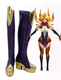 Lol Lux fuego original bones Cosplay Botas Zapatos por encargo cualquier tamaño