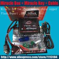 2019 100% boîte Miracle originale + clé Miracle avec câbles (mise à jour chaude V2.95) pour les téléphones mobiles de chine déverrouiller + réparer déverrouiller