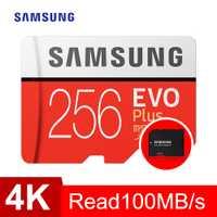 SAMSUNG tarjeta de Memoria sd micro 256GB EVO Plus de Class10 95 MB/S impermeable TF Memoria tarjeta Sim Trans Mikro tarjeta inteligente teléfono 256GB