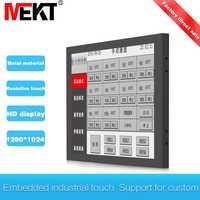 Pantalla táctil monitor led pantalla hdmi impermeable, 17 pulgadas Industrial vga Ordenador de pantalla táctil del monitor usb