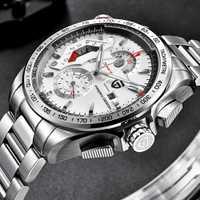 Reloj deportivo con cronógrafo de diseño PAGANI, reloj de cuarzo de marca de lujo para hombre, de 30M de acero inoxidable reloj de buceo, reloj masculino de plata
