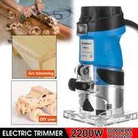 Cortadora eléctrica de 220 V/110 V enrutador de madera manual laminador de madera de 1/4 pulgadas ebanillas de madera para tallado cortadora de herramientas