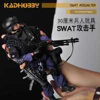 ¡Novedad de 1/6! figura militar de soldado, conjunto de juguetes coleccionable para equipo Swat de EE. UU., ropa DIY, muñeco de acción, figura de pistola, juguete para niños