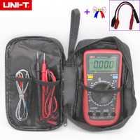 UNI-T 3 5/6 multímetro Digital UT890C + verdadero RMS con 100mF capacidad alta-frecuencia de precisión de medición de temperatura y negro bolsa