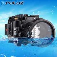 PULUZ 40 m 130ft profundidad subacuática natación buceo funda impermeable Cámara carcasa para Canon EOS-5D Mark III