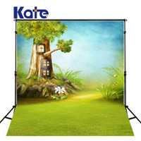 KATE recién nacido Fondo familia contexto cuento de hadas pantalla bosque niños casa del árbol azul para el fotógrafo