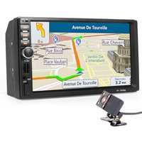 Coche 2 Din reproductor Multimedia + navegación GPS + Cámara Mapa 7