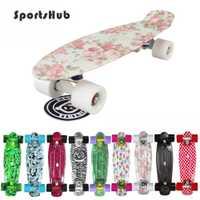 Sportshub 22 pulgadas clásico retro Cruiser estilo Skateboard cubierta completa plástico mini Skateboarding para adultos o niños cs0002