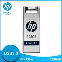 Original Hewlett Packard unidades Flash Usb 128 GB USB3.0 Metal Cle USB X795W Dropship Mini lindo de dibujos animados DIY logotipo pendrive