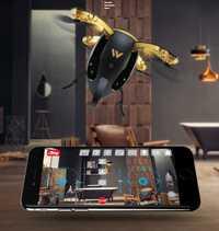 2018 nueva plegable huevo selfile Cámara RC drone 2,4G HD Cámara divertido Rugby del teléfono de la forma de Control de vuelo de avión añadir controlador