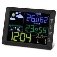TS-8210-BK barómetro de interior al aire libre de humedad temperatura reloj despertador Digital decoración LCD escritorios Mesa reloj de alarma