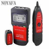 Noyafa NF-8200 LAN RJ45 de probador de Cable de red Ethernet de rastreador de longitud de Cable probador con retroiluminación LCD de pantalla