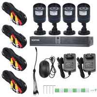 4 canales sistema de cámara HD 720 P HD DVR cámara de vídeo de vigilancia de seguridad para el hogar inteligente IP Cam IP Cámara 1 TB HDD para el hogar seguro