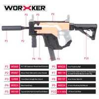 Cubierta de la daga del trabajador versión actualizada Kit modificado Kit de imitación del Vector de CRISS especial para las pistolas de juguete Stryfe modificar piezas de pistola de juguete nuevo