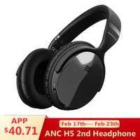 Original Mpow H5 2nd generación ANC inalámbrico Bluetooth auriculares con cable/inalámbrico con micrófono bolsa para PC iPhone Huawei xiaomi