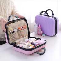 Mujeres cosméticos Carcasas capacidad grande cosmético Bolsas caja cosmética caja belleza caso viaje Bages exhibición de la joyería