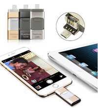 64G 3in1 memoria USB Stick U disco Flash para iPhone X 8 PLUS 7 7 6 6S PLUS 5S para iPad Pro aire Android OTG teléfono Samsung