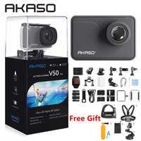 AKASO V50 Pro 4 K nativa/30fps 20MP Cámara de Acción WiFi 4 K con EIS pantalla táctil ajustable ver ángulo de 30 m impermeable Cámara