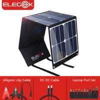ELEGEEK 5 V 18 V 40 W Panel Solar portátil cargador SUNPOWER DC 18 V exterior Cargador Solar para ordenador portátil/12 V batería/teléfono móvil