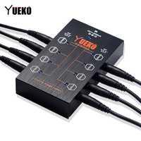 YUEKO YK-21 ISO8 PLUS fuente de alimentación aislada para piezas Pedal de efecto de guitarra 8 PCs DC cables más 1 y cable accesorios de guitarra