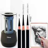 Creativo eléctrico Sacapuntas de lápiz de multi-función de Arte de aprendizaje dibujo Sacapuntas de lápiz sacapuntas automática para estudiante