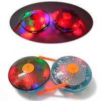 2019 nuevo resplandor eléctrico juguetes luminosos niños música niños Halloween juguete Universal Flying Saucer Disco suena lámpara linterna