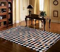 Arte moda alfombra natural 100% cuero genuino de piel de vaca seagrass alfombra