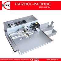 HZPK carcasa de acero inoxidable de tipo ancho máquina de codificación de rodillos de tinta sólida caja bolsa de impresión de código de fecha pequeña empaquetadora MY-380F/W