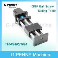 GGP viajar longitud 100mm tornillo de la bola/1204/1605/1610 guía de movimiento lineal carril moviendo mesa X Y Z eje con Nema23 Motor paso a paso