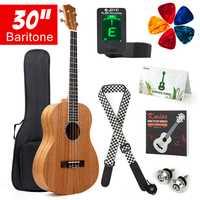 Kmise barítono Ukelele 30 pulgadas de Ukelele Uke de 4 cuerdas de guitarra hawaiana,