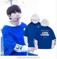 Kpop BTS SUGA Impresión de dos piezas hoodies mujeres Corea moda Otoño Invierno sudaderas con capucha hombres Harajuku ropa pullovers