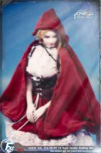 FASToys 1/6 FA-18-07 Caperucita Roja, conjunto de ropa gótica Lolita para TBleague S22A JIAOUL, figura de acción del cuerpo, juguete