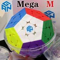 Cube magique puzzle GAN mega M megaminxeds magnétique gancube 12 faces cube dodecahedron professionnel megamin x vitesse cube jouets